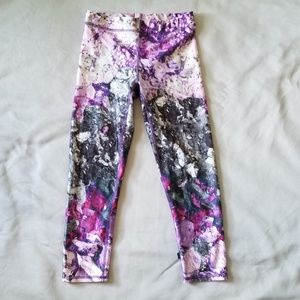 Zara Terez Purple Crushed Makeup Leggings Small